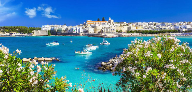The seaside town of Otranto